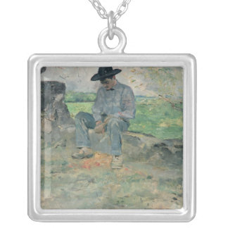 Young Routy at Celeyran, 1882 Silver Plated Necklace