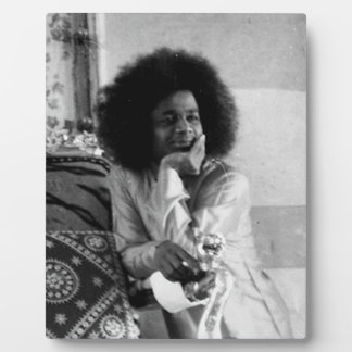 Young Sathya Sai Baba on Photo Plaque
