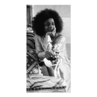 Young Sathya Sai Baba Photo Card