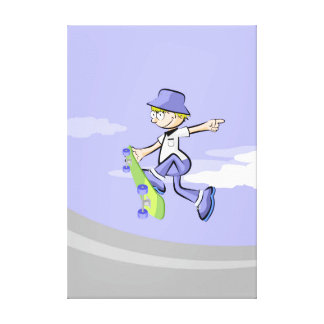 Young Skateboard gives a great jump of risk Canvas Print