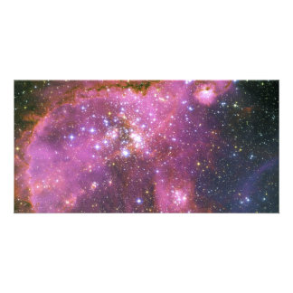 Young Stars Sculpt Gas Small Magellanic Cloud Customised Photo Card
