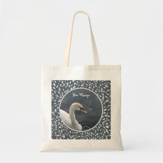 Young Swan & Feather Tote Bag
