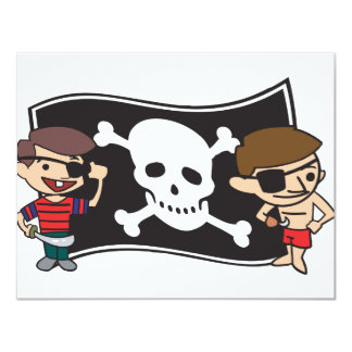 Young Swashbucklers 11 Cm X 14 Cm Invitation Card