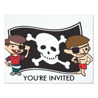 Young Swashbucklers Customize Text 11 Cm X 14 Cm Invitation Card