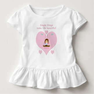 Young T-shirt with steering wheels and pink heart