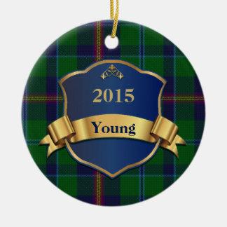 Young Tartan Plaid Custom Ornament