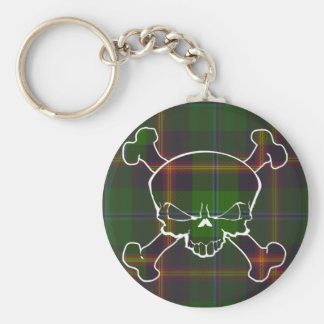 Young Tartan Skull No Banner Basic Round Button Key Ring