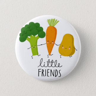 young vegetable 6 cm round badge