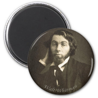 Young Walt Whitman 6 Cm Round Magnet
