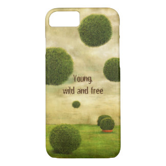 Young, wild and free iPhone 7 case