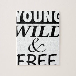 YOUNG WILD AND FREE JIGSAW PUZZLE