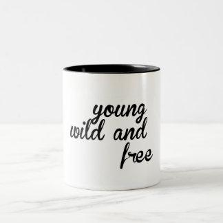 Young Wild and Free Mug