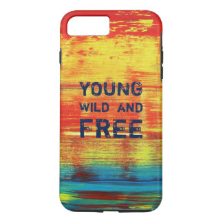 Young Wild and Free - Sunny Red Abstract Art iPhone 7 Plus Case