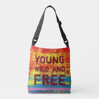 Young Wild and Free - Sunny Red Abstract Art Tote Bag