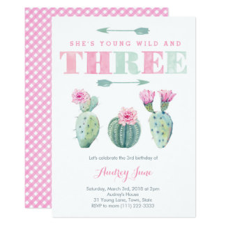 Young Wild and Three Free, Cactus Party Invites
