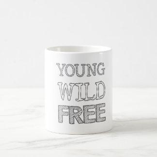 Young Wild Free Basic White Mug