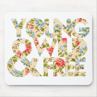 Young Wild Free Floral Graphic Mousepads