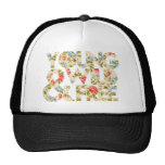 Young Wild & Free Floral Hat Trucker Hat