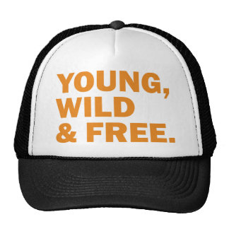 young, wild & free mesh hats