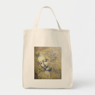 young woman 2 canvas bag