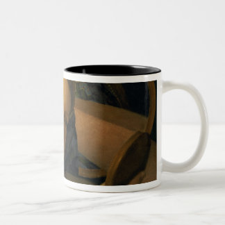Young Woman at her Toilet Two-Tone Coffee Mug