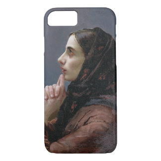 Young Woman at Prayer, 1879 (oil on canvas) iPhone 7 Case
