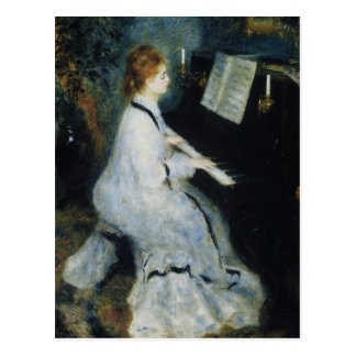 Young Woman at the Piano by Renoir Postcard