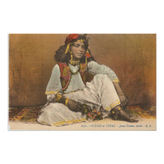 Young Woman From Tunisia 1910 Poster