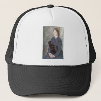 Young Woman Holding a Black Cat - Gwen John Trucker Hat