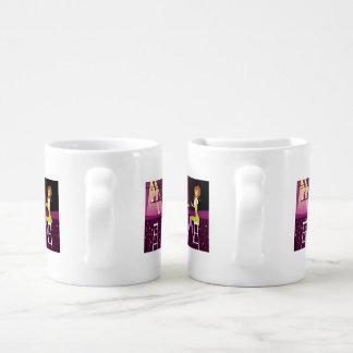 Young Woman in Nightclub Coffee Mug Set