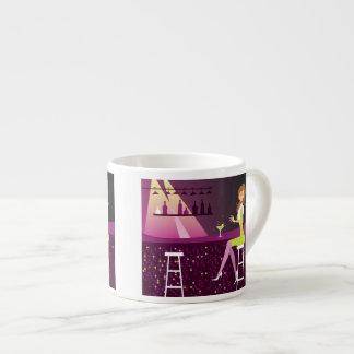 Young Woman in Nightclub Expresso Mug
