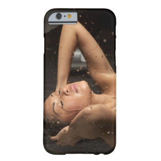 Young woman in shower barely there iPhone 6 case