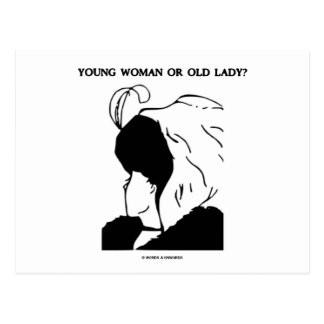 Young Woman Or Old Lady? (Optical Illusion) Post Card