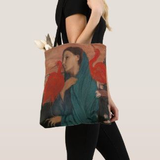 Young Woman with Ibis Tote Bag
