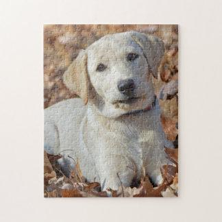 Young Yellow Labrador Retriever Puppy Jigsaw Puzzle