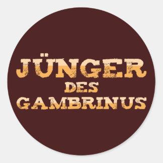 Younger the Gambrinus Round Sticker