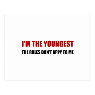 Youngest Rules Dont Apply Postcard