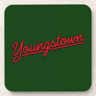 Youngstown in red beverage coaster