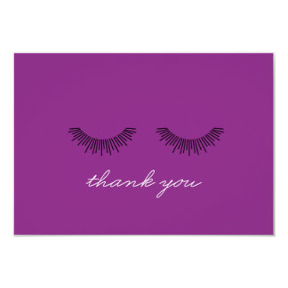 Younique Thank You note Purple Eyelashes 9 Cm X 13 Cm Invitation Card
