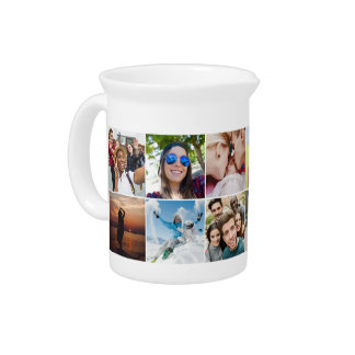 YOUR 12 Instagram Photos custom pitcher