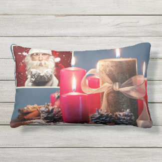 YOUR 2 PHOTOS custom Christmas throw pillows