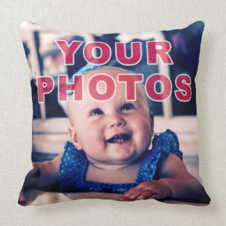 Your 2 Photos Personalised Throw Pillows