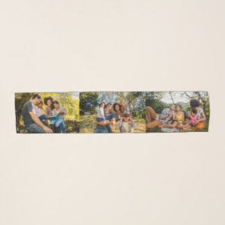 YOUR 3 PHOTOS custom scarf