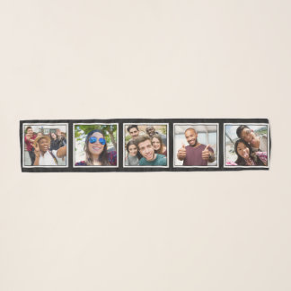 YOUR 5 Square Photos custom scarf