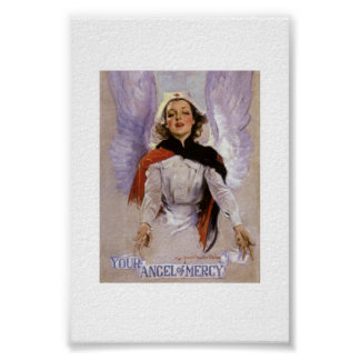 """Your Angel of Mercy"" vintage poster"