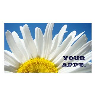 YOUR APPT. cards custom Daisy Flowers Blue Business Card Template