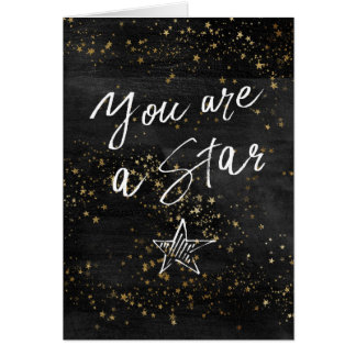 Your are a Star Congratulations Greetings Card
