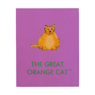 YOUR BABY'S LEARNING COLORS WITH THE ORANGE CAT WOOD PRINT