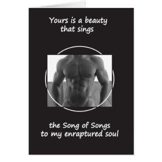 Your Beauty Sings (Blank Inside) Card