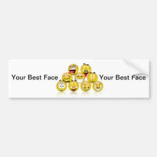 Your Best Face Bumper Sticker